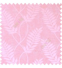 Pink color combination traditional floral long leaf pattern with texture background vertical flowing designs polycotton main curtain