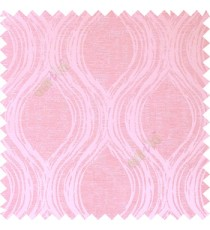 Pink color combination ogee design traditional patterns texture finished smooth and shiny design lines background vertical  polycotton main curtain