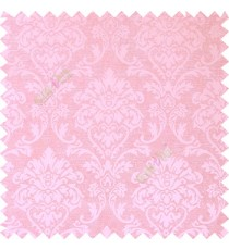 Pink color combination traditional design big damask pattern smooth and shiny finished designs textured background polycotton main curtain