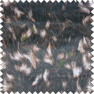 Black Brown Cream Color Animal Fur Skin Design Texture