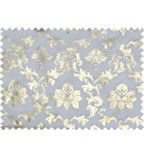Gold white color damask design poly sheer curtains design