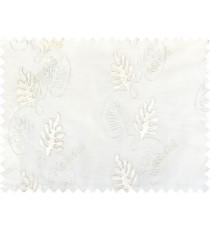 White silver cream color vertical floral stripes design poly sheer curtains design