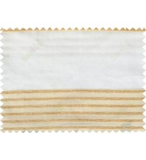 Gold white color horizontal stripes poly main curtain - 103605