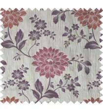 Maroon brown purple colour beautiful natural floral design poly main curtain designs