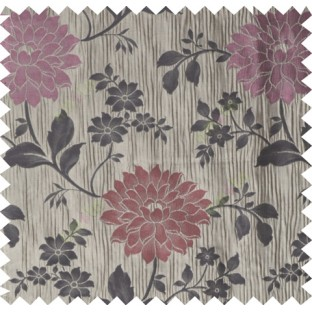 Red purple brown color beautiful natural floral design poly main curtain designs