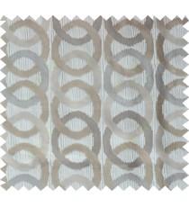 Grey brown white colour geometric circles poly main curtain designs