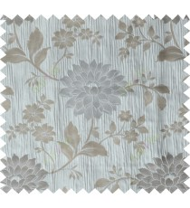 Grey brown beige colour beautiful natural floral design poly main curtain designs
