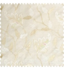 Beige cream traditional designs embroidery floral leaves beautiful trees with cotton base fabric weaving pattern main curtain