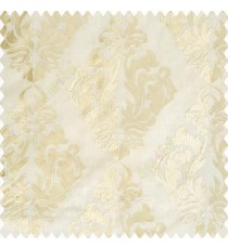 Beige cream color traditional design embroidery finished with cotton base fabric swirls floral leaves main curtain
