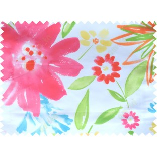 Red pink white green blue color digital sunflower pattern poly main curtains design