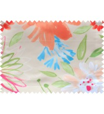 Beige green b/blue pink color digital sunflower pattern poly main curtains design