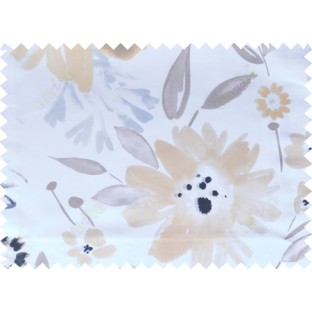 Beige black brown white color digital sunflower pattern poly main curtains design