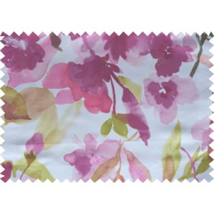 Purple green white pink digital spring seasons flower pattern poly main curtains design