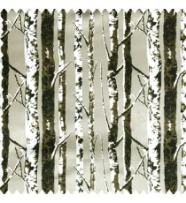 Black brown white beige color natural trees pattern branches wooden texture finished color shades polyester base fabric main curtain