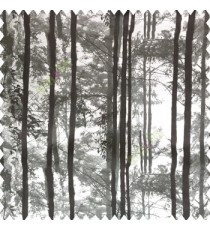 Black grey color natural trees pattern branches wooden texture finished color shades polyester base fabric main curtain