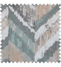 Green grey brown black colour zigzag camouflage poly main curtain designs