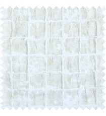 Gold white colour two layer creased geometric design poly main curtain designs