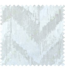 Beige silver colour zigzag camouflage poly main curtain designs