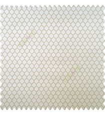 Beige gold color geometric designs texture finished background hexagon patterns polyester base thick fabric main curtain