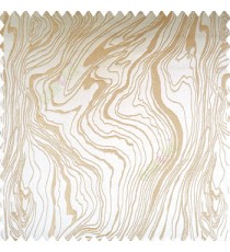 Beige gold color random flowing lines rock layers texture finished designs shiny base polyester fabric smooth background main curtain