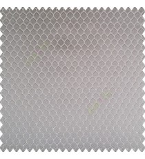 Grey silver color geometric designs texture finished background hexagon patterns polyester base thick fabric main curtain