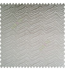 Grey color horizontal zigzag texture flowing lines weaving thin patterns polyester base thick fabric main curtain