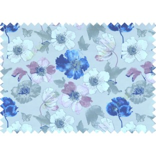 Blue white brown green colour natural floral design pure cotton main curtain designs