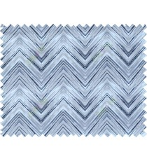 Black white grey colour elegant look zigzag finish design pure cotton main curtain designs