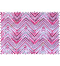 Pink red white grey colour elegant look zigzag finish design pure cotton main curtain designs