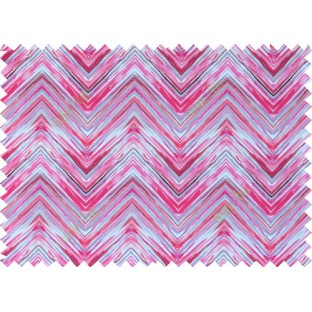 Pink red white grey colour elegant look zigzag finish design pure cotton main curtain designs