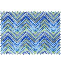 Blue yellow purple green colour elegant look zigzag finish design pure cotton main curtain designs