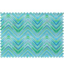 Blue green grey white colour elegant look zigzag finish design pure cotton main curtain designs