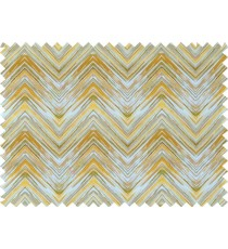 Yellow grey brown white colour elegant look zigzag finish design pure cotton main curtain designs