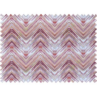 Purple white maroon colour elegant look zigzag finish design pure cotton main curtain designs