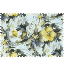 Black yellow grey white colour beautiful painting finish floral pure cotton main curtain designs