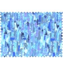 Blue white black purple beautiful oil painting finish pure cotton main curtain designs