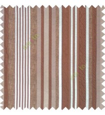 Brown silver color vertical embossed mixed of bold and pencil stripes with texture finished surface soft touch polyester main curtain