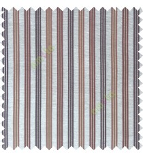 Brown beige green color vertical embossed stripes texture finished surface polyester main curtain