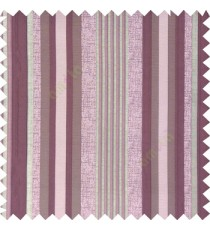 Purple silver color vertical embossed mixed of bold and pencil stripes with texture finished surface soft touch polyester main curtain