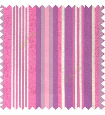 Purple pink silver color vertical embossed mixed of bold and pencil stripes with texture finished surface soft touch polyester main curtain