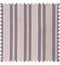 Bright purple brown color combination with silver base color vertical embossed stripes texture finished surface polyester main curtain