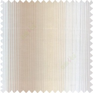 Brown beige color vertical embossed stripes texture finished surface polyester main curtain