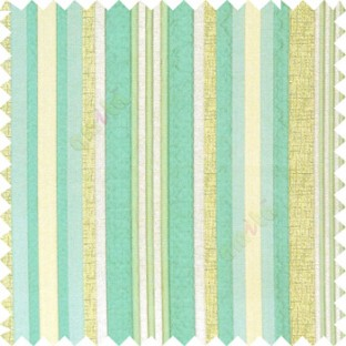 Blue silver green color vertical embossed mixed of bold and pencil stripes with texture finished surface soft touch polyester main curtain