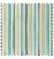 Blue green silver color combination with silver base color vertical embossed stripes texture finished surface polyester main curtain