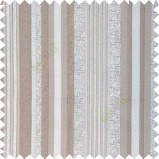 Grey silver color vertical embossed mixed of bold and pencil stripes with texture finished surface soft touch polyester main curtain