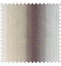 Grey beige color vertical embossed stripes texture finished surface polyester main curtain