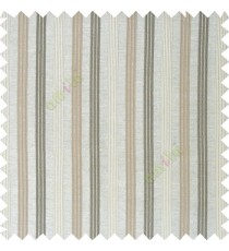 Grey brown color combination with silver base color vertical embossed stripes texture finished surface polyester main curtain
