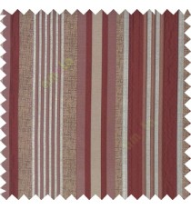 Maroon silver brown color vertical embossed mixed of bold and pencil stripes with texture finished surface soft touch polyester main curtain