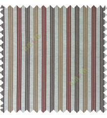 Maroon brown silver color combination with silver base color vertical embossed stripes texture finished surface polyester main curtain