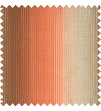 Orange brown gold color vertical embossed stripes texture finished surface polyester main curtain